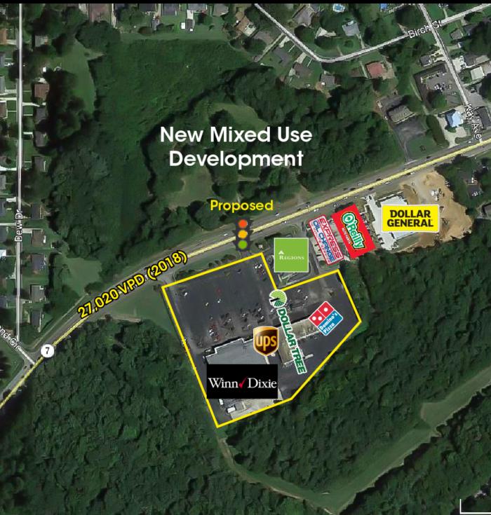 Trussville Marketplace Site Aerial
