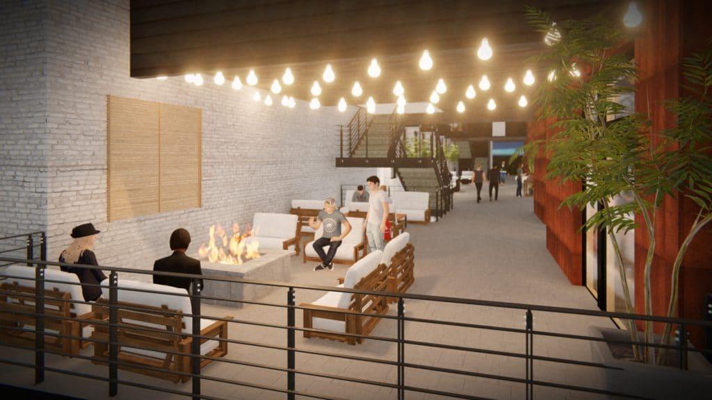 Macaroni Lofts Parkside Mixed-Use Development Courtyard